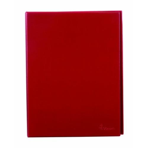 Villámzáras mappa, A4, álló, VICTORIA, piros