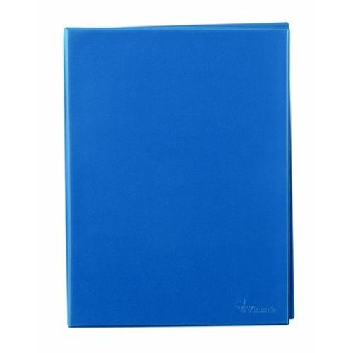 Villámzáras mappa, A4, álló, VICTORIA, kék